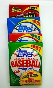 Lot of 60 Old Topps Baseball Cards in Four Unopened Wax Packs