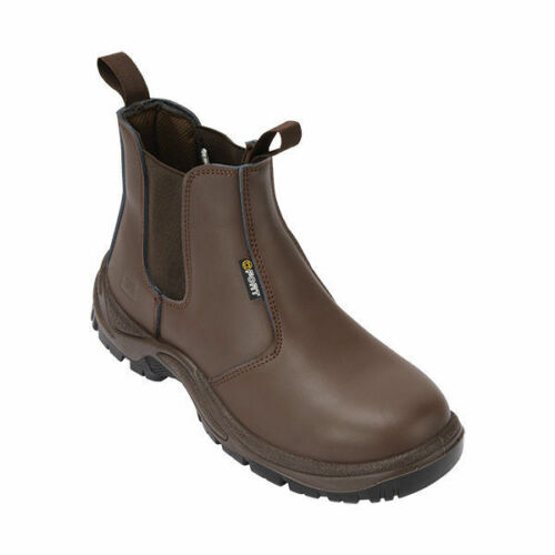 Fort Nelson FF103 brown Leather Upper S1P safety dealer boot /& midsole SZ 6-12