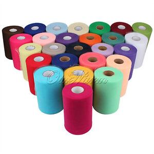 Tulle-Roll-Spool-6-x100YD-Tutu-DIY-Circle-Skirt-Fabric-Party-Wedding-Craft-Decor