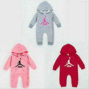 48402119a NEW BABY JORDAN ROMPER NEWBORN BABY GIRL BABYGROWS OUTFITS CLOTHES ...