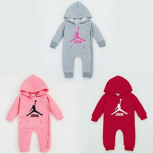 ffcfa8182c0 NEW BABY JORDAN ROMPER NEWBORN BABY GIRL BABYGROWS OUTFITS CLOTHES ...
