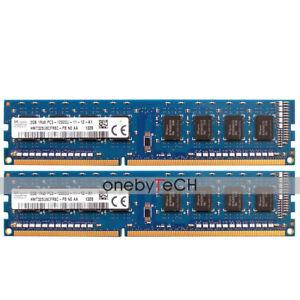 Para-Hynix-4GB-2x2GB-PC3-12800U-DDR3-1600-240pin-CL11-memoria-no-ECC-sin-bufer