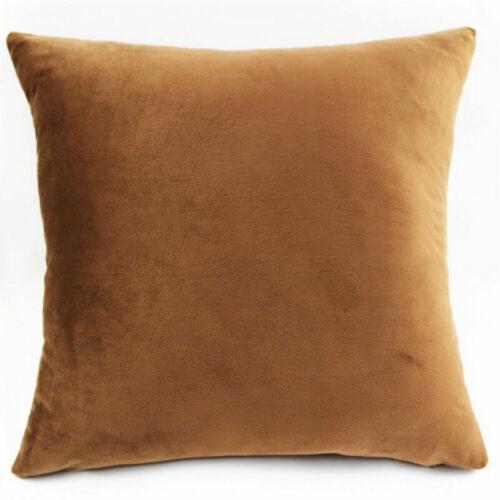 Faux Fur Velvet Cushion Covers Cosy Plush Cuddly Throw Pillows Cases Home Modern