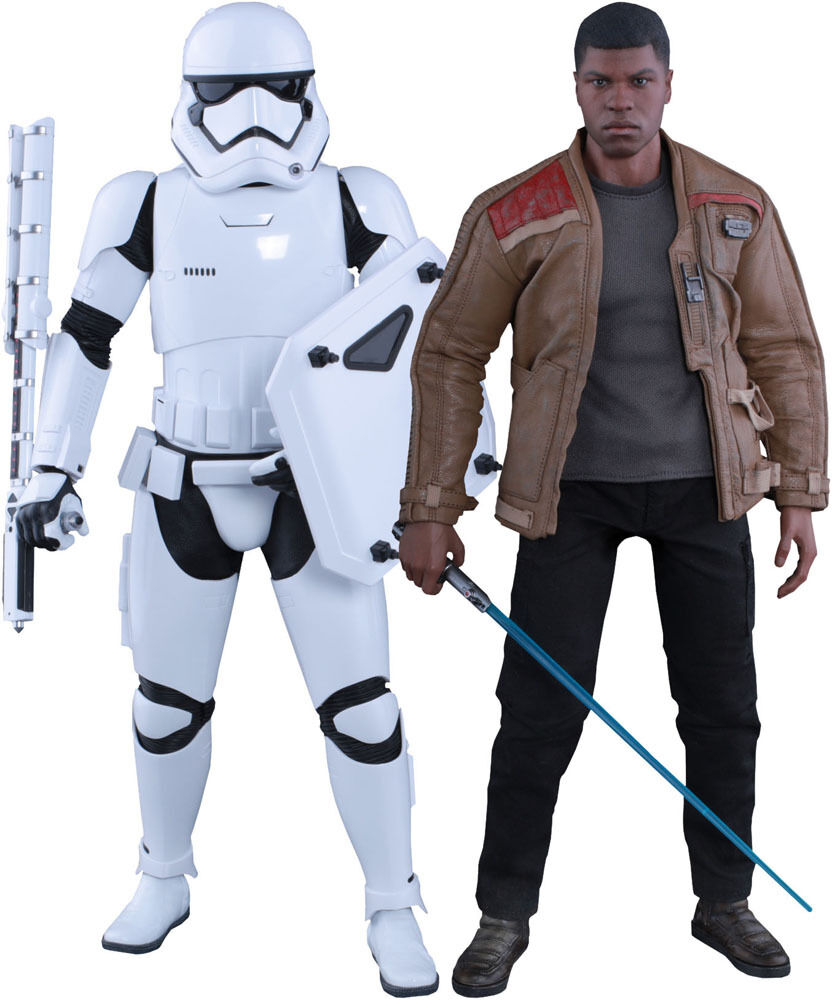 Hot Toys Star Wars Finn y antidisturbios Stormtrooper Twin Set 16 figura 902626