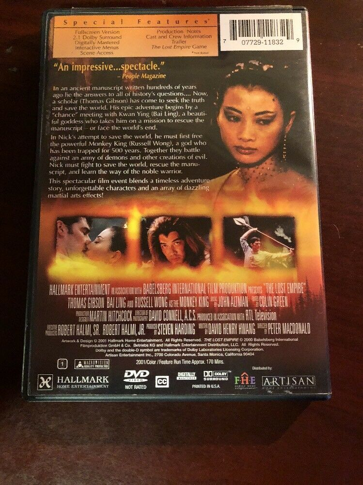 The Lost Empire Dvd 2001 With Sensormatic Security Tag Ebay