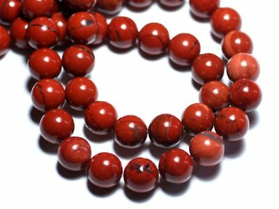 Jaspe Rouge Boules 10mm   4558550026309 Perles de Pierre 5pc