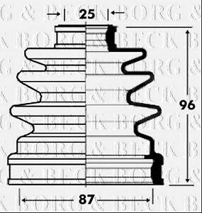 Borg-amp-Beck-BCB2832-Kit-de-Arranque-CV-CONJUNTA-encaja-Kia-Sedona-Nuevo-O-E-SPEC