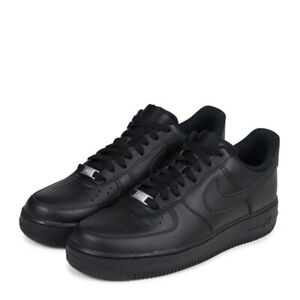 26eee10fcb60 Nike Air Force 1 Low  07 Men s Shoes Black Black Leather 315122 001 ...