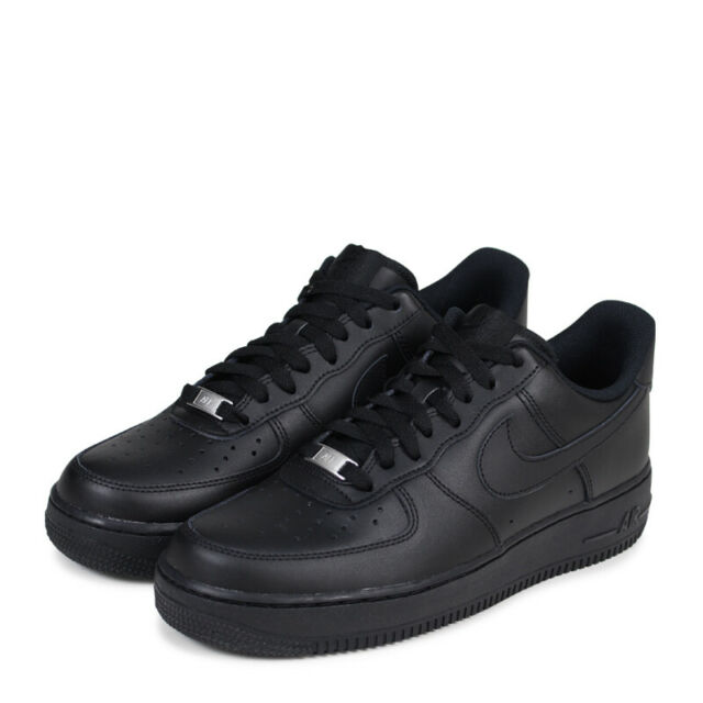 Nike Air Force 1 Low '07 Men's Shoes BlackBlack Leather 315122 001