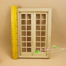 1/12 Dollhouse Miniature DIY fitment Material Classic French Door