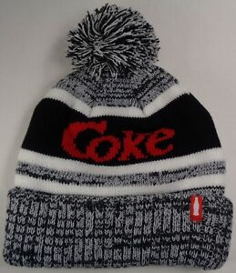 05238d606 Details about Beanie Winter Hat Cap Licensed Coca Cola Coke Grey Black CC