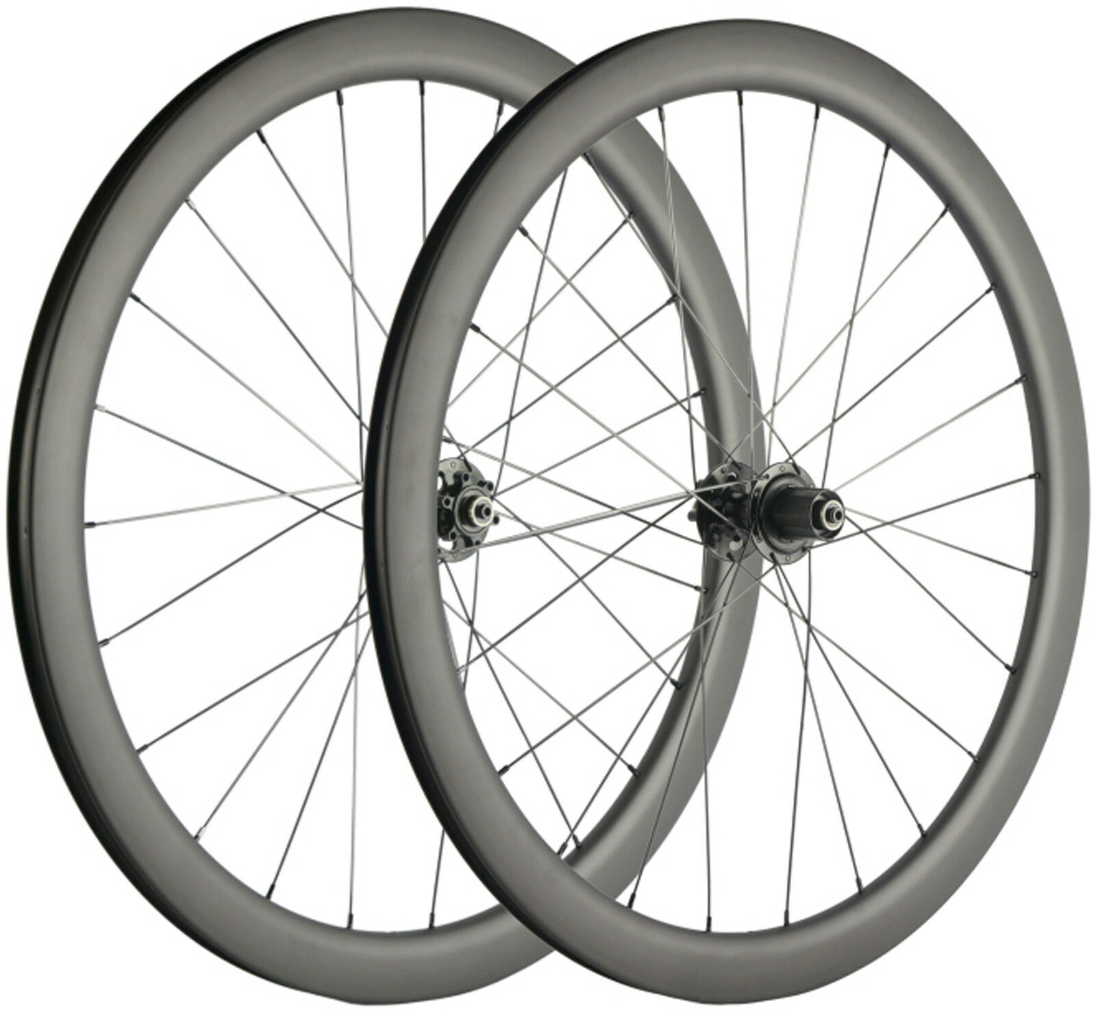 700C Carbon Fiber Road Bike Disc  Brake Wheelset 45mm Depth 25mm Width Clinchcer  the cheapest