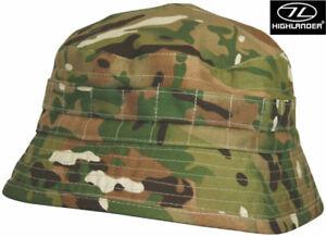 Highlander HMTC camo militaire armée Bush CACHOU Bucket Sun Jungle Hat surplus NEUF