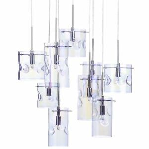 Details About Petroleum Tinted 9 Light Cer Ceiling Pendant Contemporary Lighting Litecraft