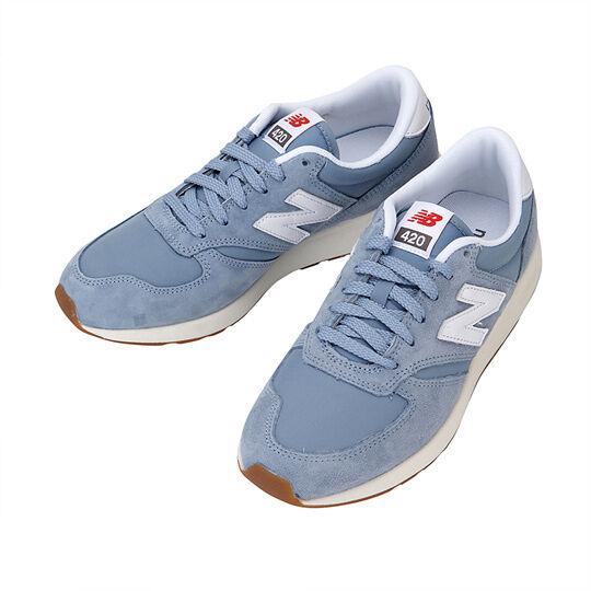 New balance 420 Jogging shoes blueE SUEDE NYLON GUM UNISEX MENS US SIZES MRL420SP