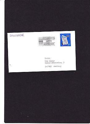 """Briefmarken Freundschaftlich Uno Genf Brief Mit Sloganstempel """"28.10.86 Decolonisation Liberte Independance """" Vereinte Nationen"""