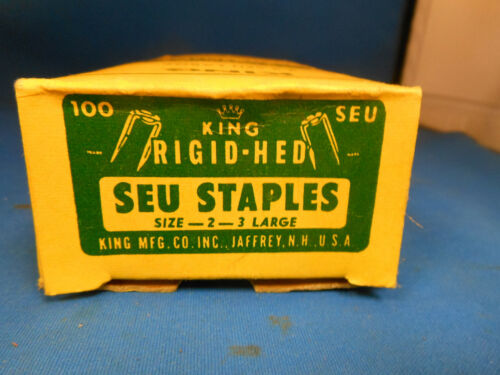 King  Cable Staples 2-3 SEU LARGE NEW BOX OF 100