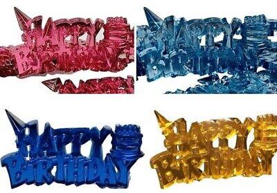 48 Happy Birthday Embellishment Favors Acrylic Confetti Gift Spread Choose