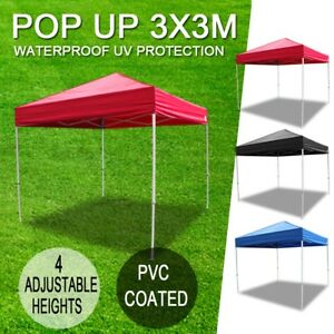 3-X-3M-Gazebo-Outdoor-Pop-Up-Tent-Folding-Marquee-Party-Wedding-Camping-Canopy