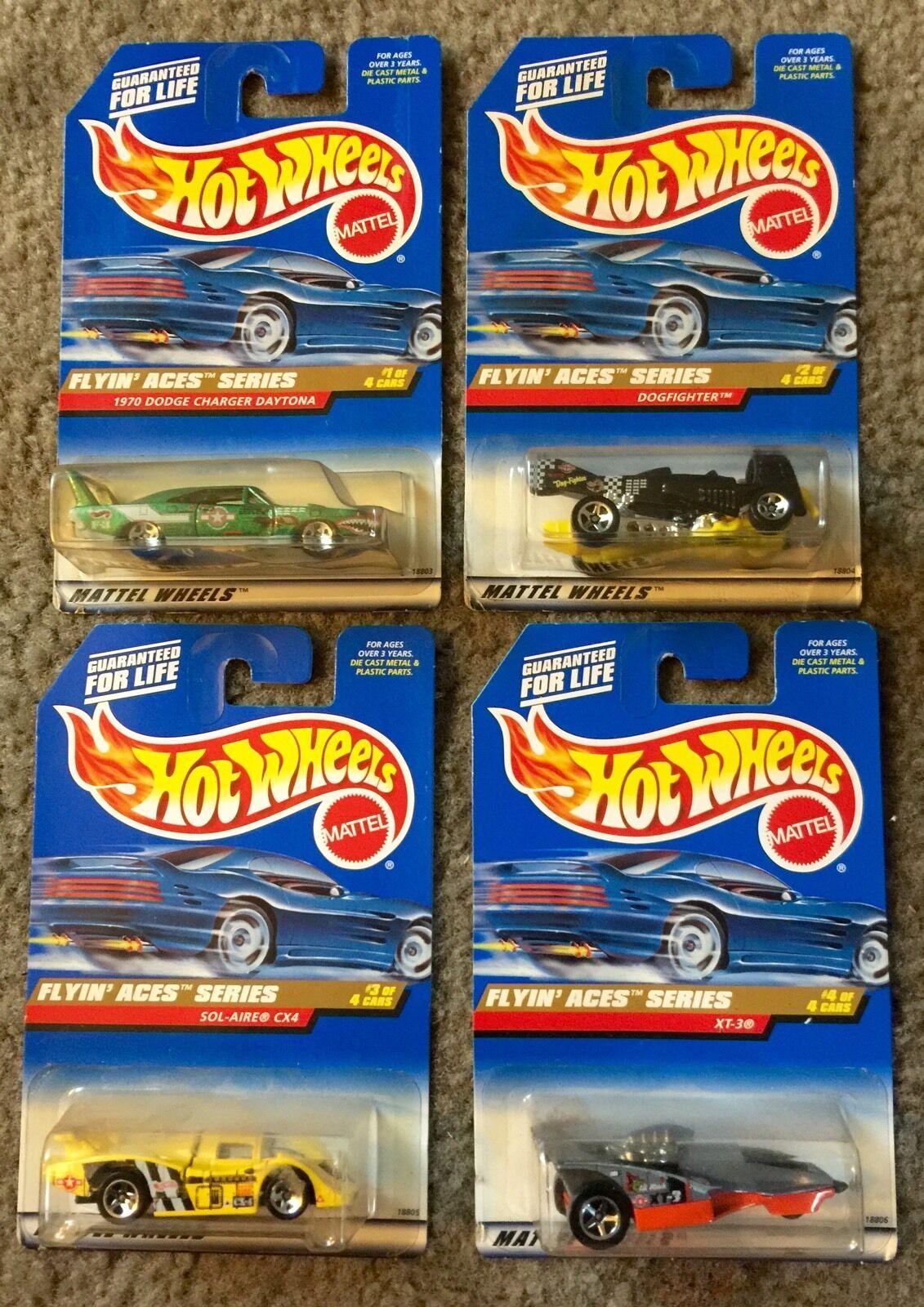 FLYIN ACES SERIES 1997 Hot Wheels- 4 Car Set
