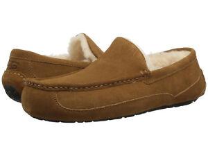 Men-UGG-Ascot-Suede-Slipper-1101110-Chestnut-100-Authentic-Brand-New