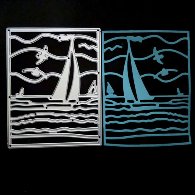 Sailboat Metal Cutting Dies Stencil For Scrapbook Paper Cards Craft Embossing MD