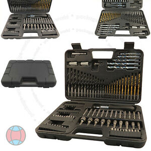 109pc-HSS-Masonry-Screwdriver-Socket-Hex-Phillips-Torx-Drill-Bit-Holder-Set-DCUK