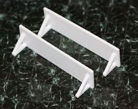 Dollhouse Miniature Pair Of Long White Modern Wall Shelves