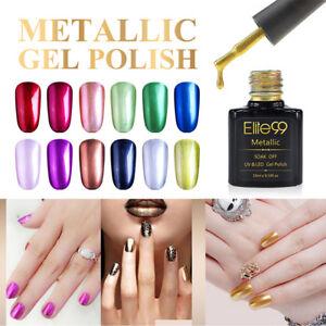 elite99 metallic gel polish metal soak off reinforce gel