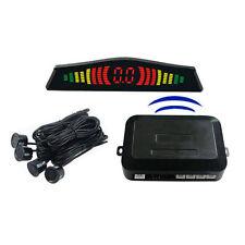 4 Parking Sensors LED Display Car Auto Backup Reverse Radar System Wireless Kit