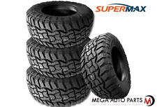 4 Supermax RT-1 35X12.50R18LT 123Q Tires, 10Ply, All-Terrain A/T, Mud M/T, Truck