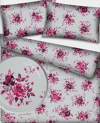 New 100% Cotton Printed Flowers  Fabric Material  - by the  METRE -wide 160 cm