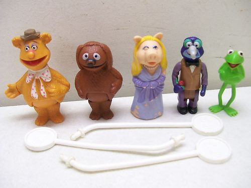 FISHER PRICE SESAME STREET MUPPETS STICK PUPPETS
