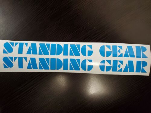SE Racing Light Blue Standing Gear Decals Landing Gear Forks PK Ripper Quadangle