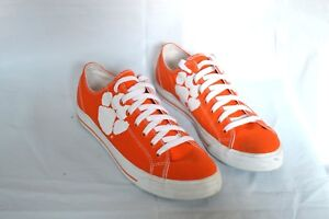 CLEMSON-SNEAKERS-BY-ROW-ONE-MENS-SIZE-10-WOMENS-SIZE-11-5-ORANGE-SHOES
