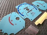 96-00 Dx Honda Civic Manual Mt Cluster White Face Glow Through Gauges In Blue