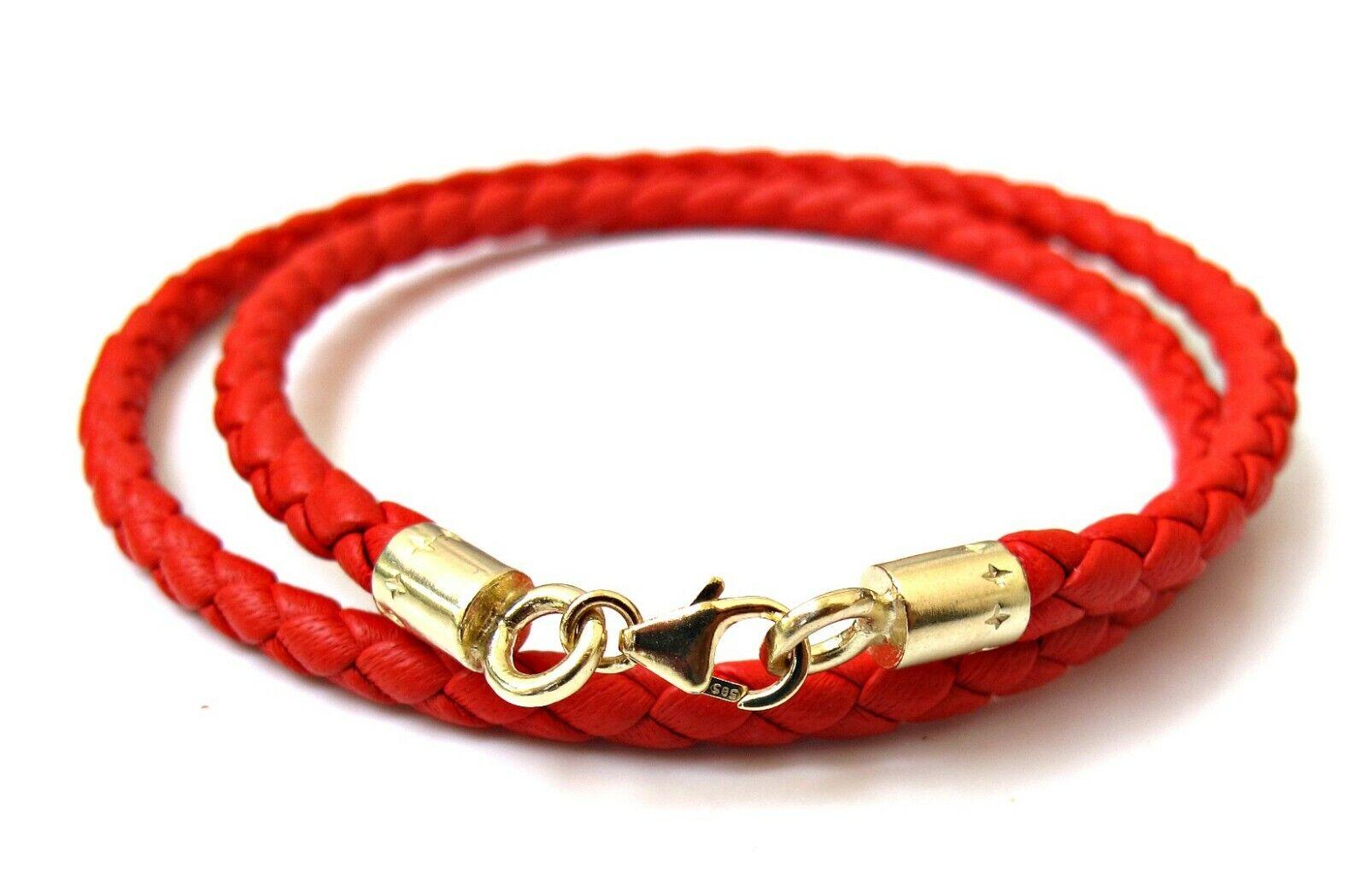 Kabbalah red string solid gold bracelet original authentic luxurious 14k amulet