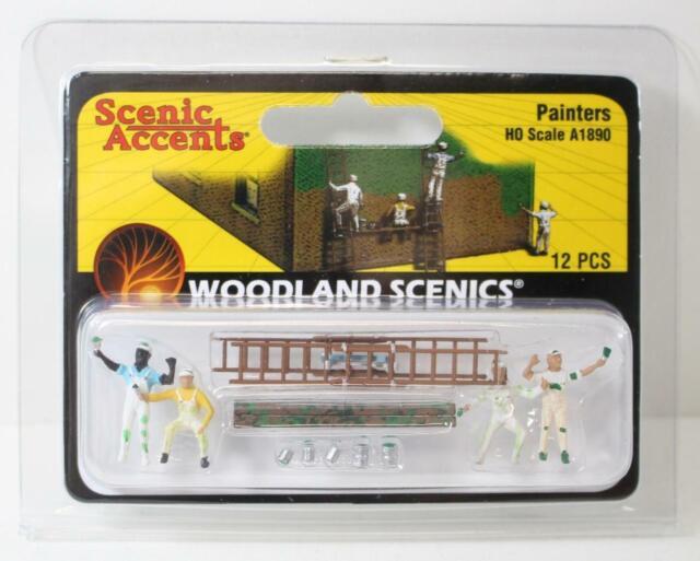 HO 1:87 Scale Woodland Scenics Painters A1890 New FNQHobbys