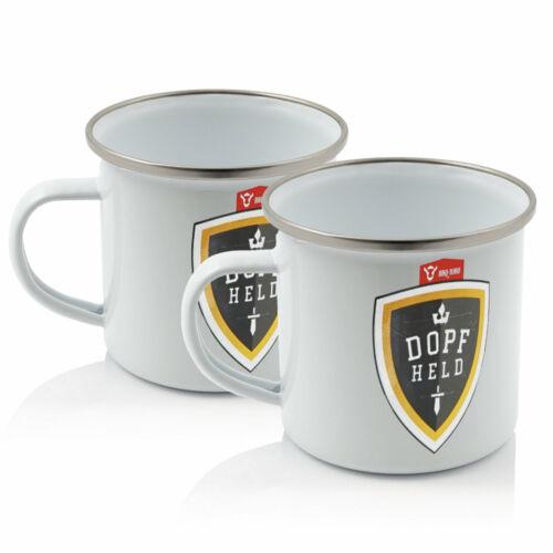 BBQ-Toro 2x Dopfheld Emaillierte Tasse 350 mlKaffeetasse Kaffeebecher