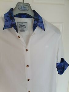 Mens-MAN-by-VIVIENNE-WESTWOOD-short-sleeve-shirt-size-48-medium-RRP-260