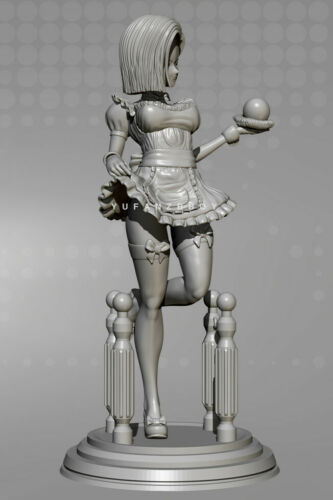 Anime Maid 1//24 Unpainted GK Model Resin Kits Action Figure Unassembled Toy 75mm