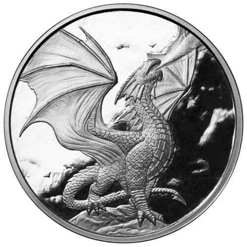 1 OZ SILVER COIN ANNE STOKES DRAGON COIN PROOF NOBLE DRAGON 3RD IN SERIES #COA
