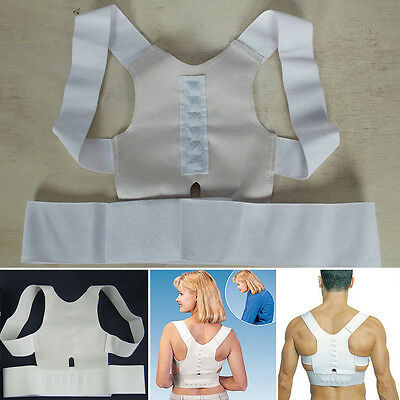 Magnetic Posture Back Shoulder Corrector Support Orthopaedic Brace Belt Unisex