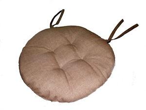 Cuscini Rotondi Sedie Cucina.Za414 Cuscino Sedie Cucina Arredo Rotondo Morbidone Cotone Panama