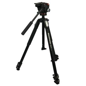 Manfrotto Fotostativ 190X Serie Alu Kit mit 2-Wege-Neiger MHXPRO-2W max. 4KG