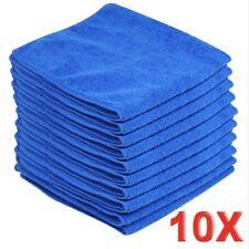 10xBLUE Large Microfibre Cleaning AutoCar Detailing Soft Cloths Wash TowelDuster