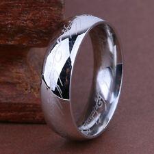 """Herr der Ringe/Hobbit """"DER EINE RING"""" aus Titan Größe 18,89mm Nr9 Silber"""