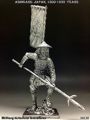 Ashigaru. Japan 1500-1600 years, Tin toy soldier 54mm, figurine, metal sculpture