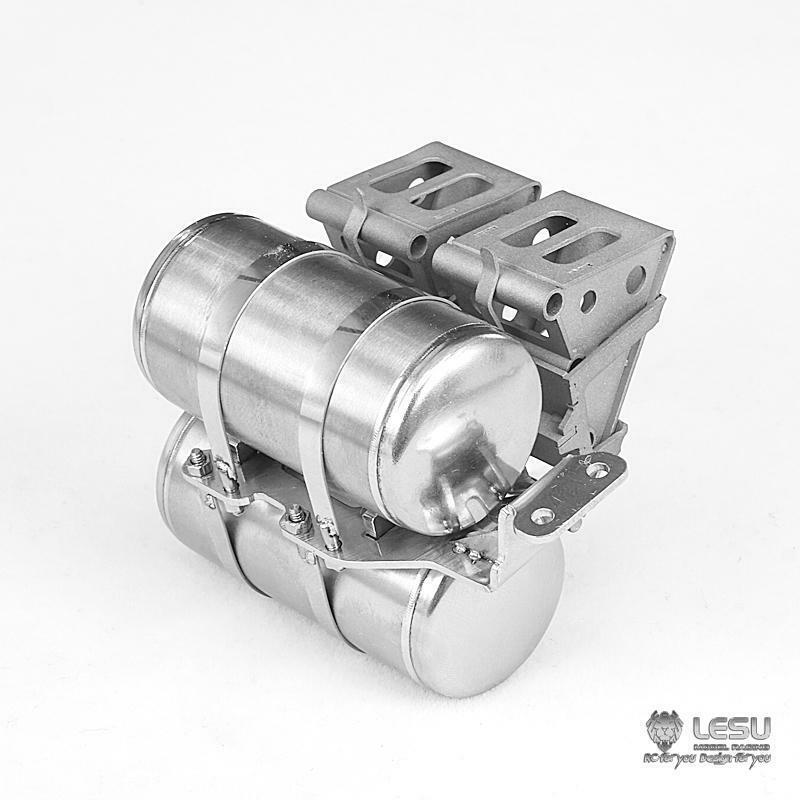 Gatillo LESU Metal Tanque De De De Aire Para 1 14 RC Hágalo usted mismo TAMIYA Cabina Camión Remolque Modelo  diseño único