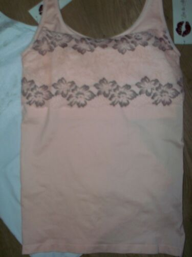 NEW RHONDA SHEAR Seamless Camisole Pack of 2 Choice of Colour /& Size